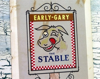 BTS Early Gary The Stable Restaurant Menu Memphis Tennessee Admiral Benbow Inn