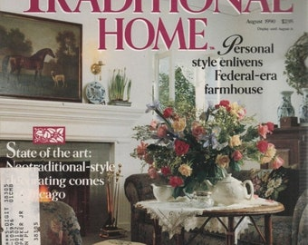 BTS Traditional Home BHG Magazine August 1990 Time Travelers/ Lace & Linen
