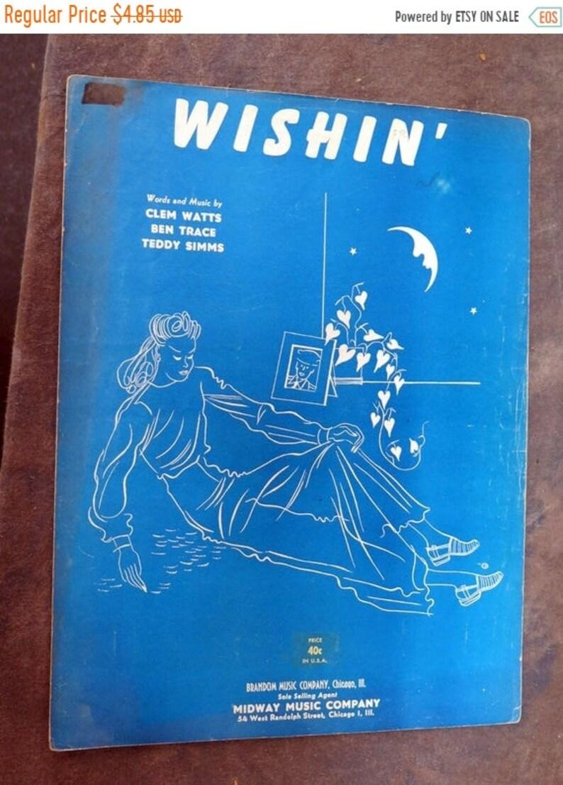 Wishin' by Clem Watts, Ben Trace, Teddy Sims Sheet Music 1952
