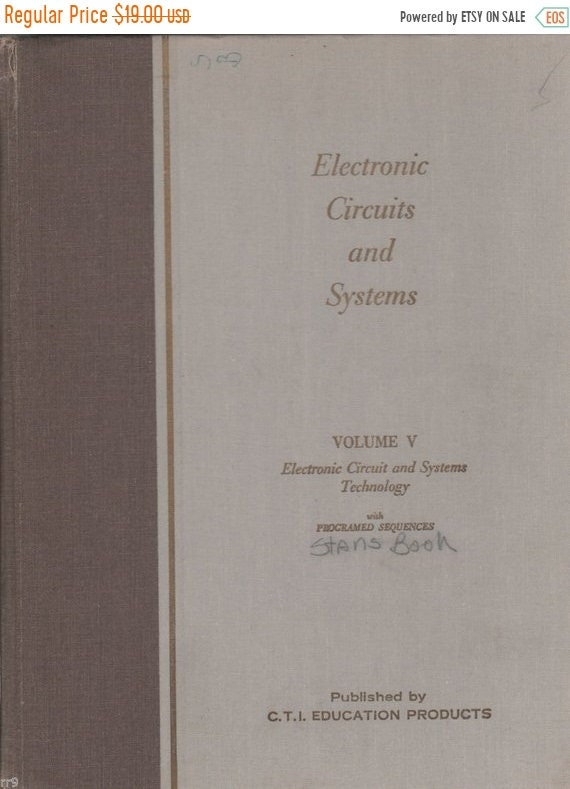 Electronic Circuits and Systems Technology Vol  V 1973 Textbook Programed  Seq