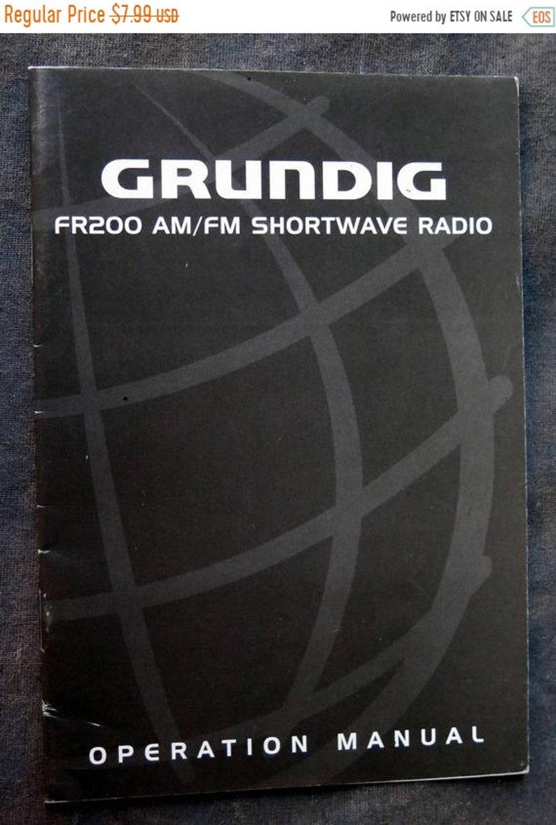 Grundig FR200 Am/FM Shortwave Radio Operation Manual Lextronix Menlo Park CA