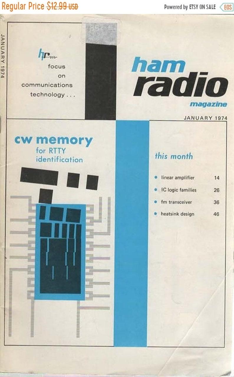Ham Radio Magazine January 1974 Linear Amplifier, IC logic Families, FM  Transceiver, Heatsink Design