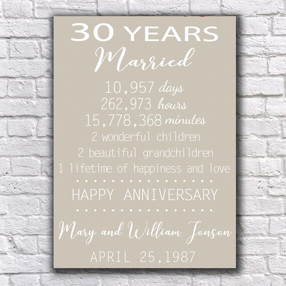 Gift For 30 Wedding Anniversary: 30 Year Anniversary 30 Anniversary Gift Pearl Anniversary