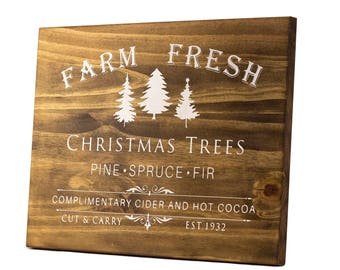 Christmas Sign, Christmas Decoration, Christmas Decor, Wood Christmas Sign, Holiday Sign, Rustic Christmas, Christmas Farm Sign