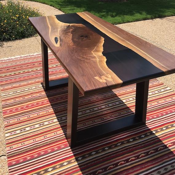 resin river table etsy. Black Bedroom Furniture Sets. Home Design Ideas