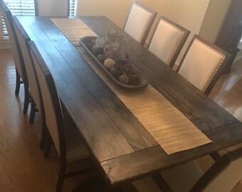 X Base Farmhouse Dining Room Table