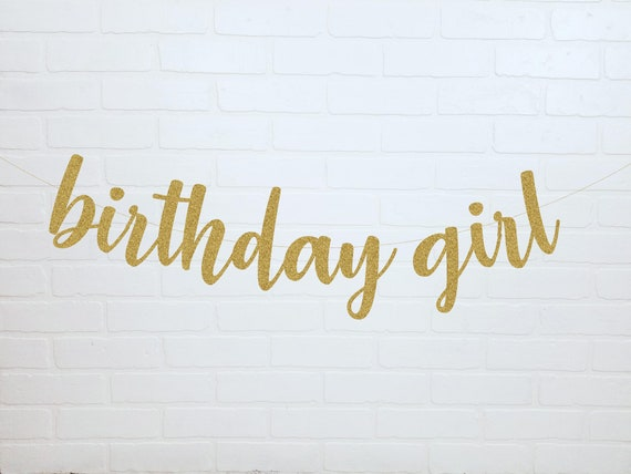 birthday girl banner happy birthday banner birthday for etsy