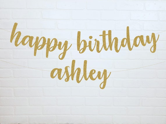 happy birthday banner happy birthday name banner custom etsy