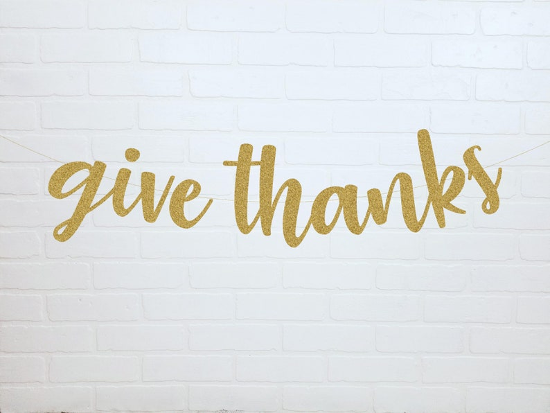 Fall Glitter Banner Give Thanks Banner Thankful Banner Fall Fall Home Decorations Thankful AF Give Thanks Hello Fall Fall