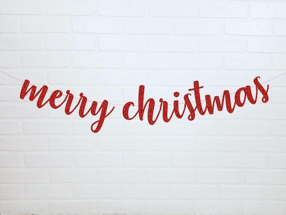 merry christmas banner christmas banner gold christmas etsy