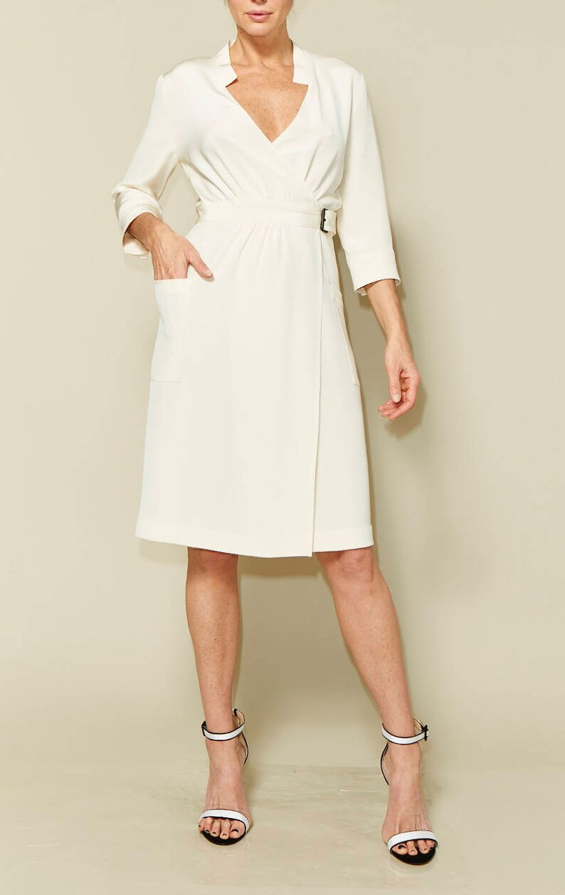 Linda wrap dress sewing pattern size 34-46  Just Patterns image 0