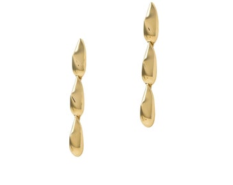 Fluid Spike, dangle earrings