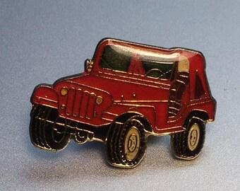 Colorado Red Eliminator Hat Pin Retro Flair Cherokee Wrangler 4x4 Offroad Jeep Comanche Pickup Truck Soft Enamel Lapel Pin