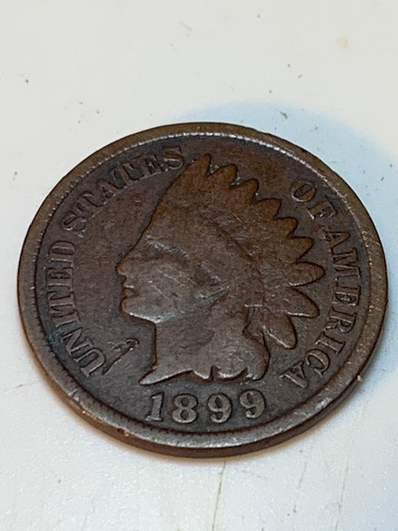 History in Numismatic Collectables 1899 Indian Head Penny one Cent vintage Collectable Coin US