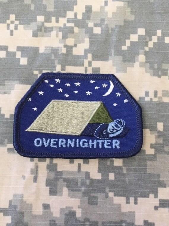 Boy Scout Overnighter Patch-- Jacket Patch