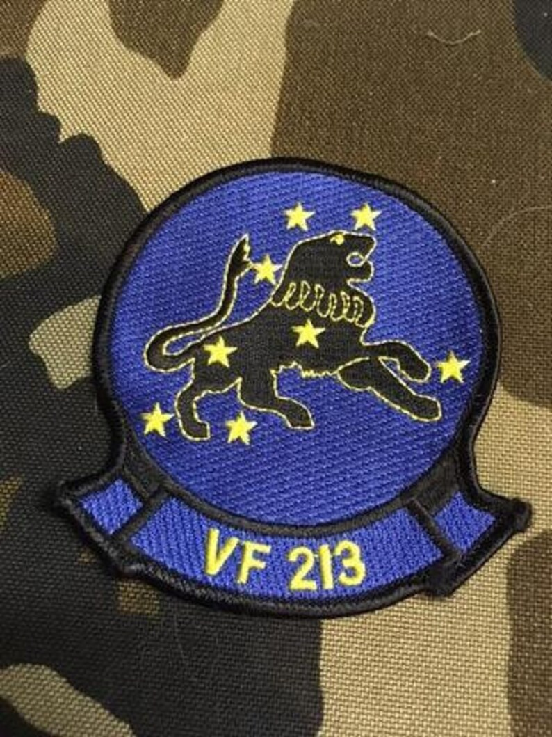 US Navy VF 213 Strike Fighter Squadron Patch Blacklions