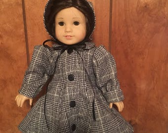 """Coat and bonnet for 18"""" doll"""