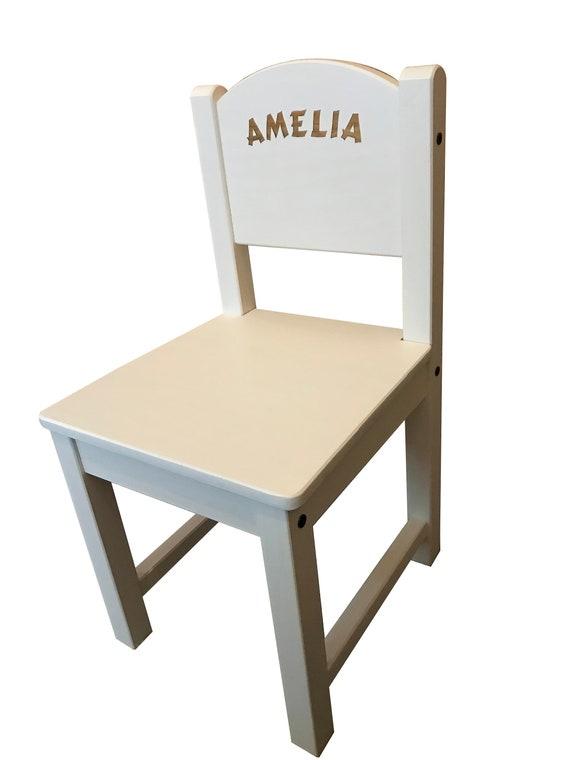 Personalisierte Kinder Kinder Ikea Weiß Holzstuhl Graviert