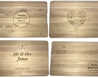 Personalised Engraved Wooden Chopping Board, Gift, Any Engraving, Any Occasion