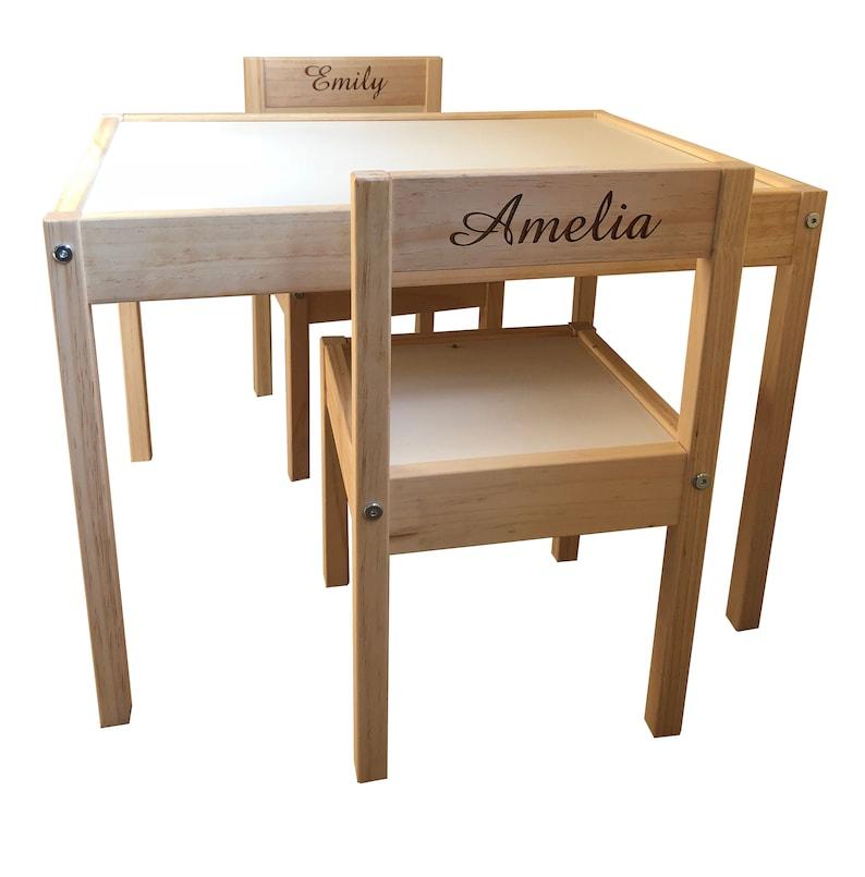 Personalisierte Kinder Kids Ikea Tisch Und Stühle 2 Namen Etsy