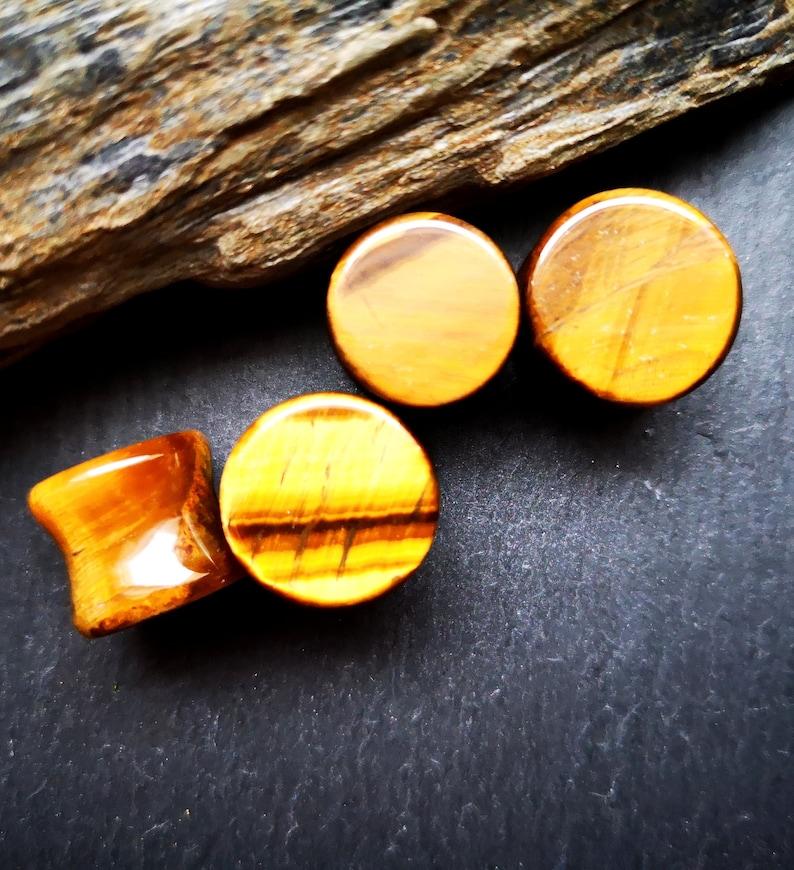 from 9,99 Euro ear piercing Tiger eye tunnel Plug stone plug,piercing 1 piece,