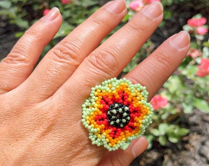 Florecita Huichol Ring