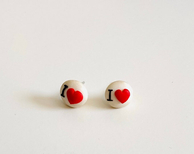 I Love You Earrings