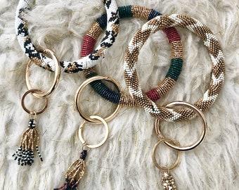 Beaded Keychain Bracelet