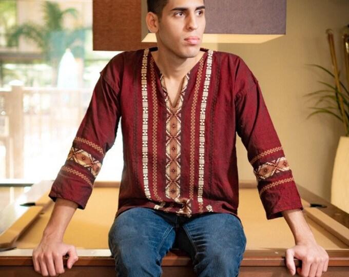 Handmade Shirt Chiapas - Cafe/Brown