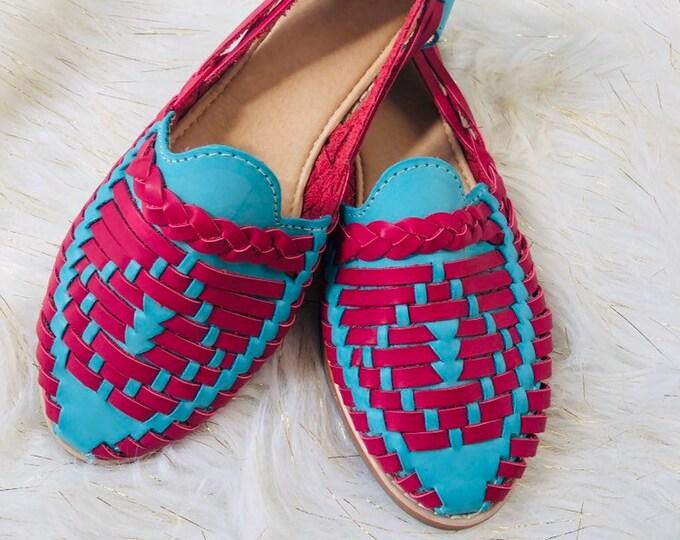 Blue & Pink Huarache