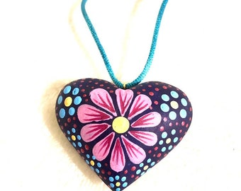 Mi Flor Corazon Necklace