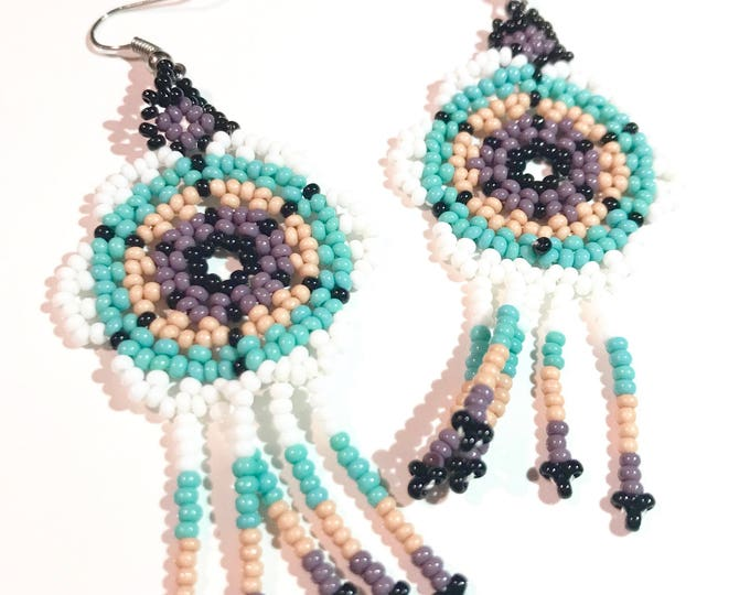 Mi Flor Earrings- Blue