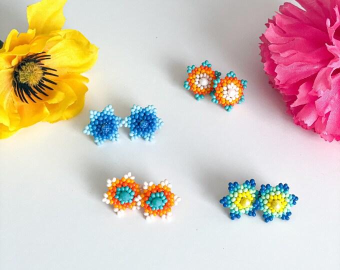 Huichol Stud Earrings