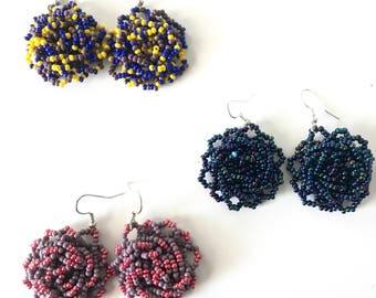 Huichol Flor Earrings