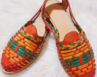 Braided Brown Leather Women's Shoe