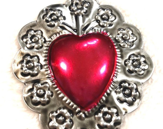 Milagros Tin Heart Ornament