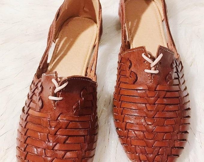 Dark Brown Leather Women's Shoe