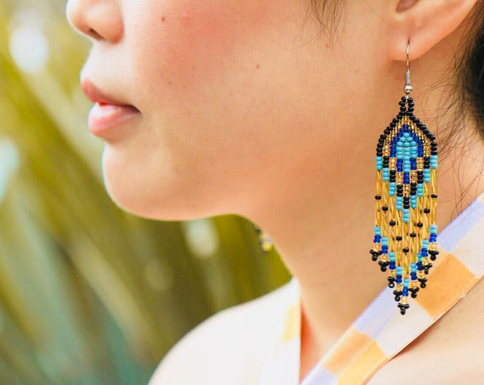 Huichol Chandelier Earrings