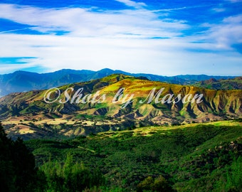 Canvas of the Santa Ynez Mountains- Mountain Side- Valley
