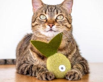 Catnip Toy. Organic Catnip. Green Tea Color. Cat Toy. Catnip Fish. Tropical Fish. Valerian Option. Green Cat Toy. Felt Cat Toy.