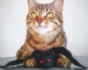 Catnip Toy. Cat Toys. Batnip. Catnip Bat. Halloween Cat Toy. Organic Catnip. Wool Felt. Bat Cat Toy. Felt Cat Toy. Bat