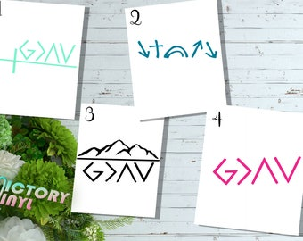 God Is Greater Than The Highs And Lows | Faith Decal | Christian Decal | Inspirational Decal | Faith Sticker