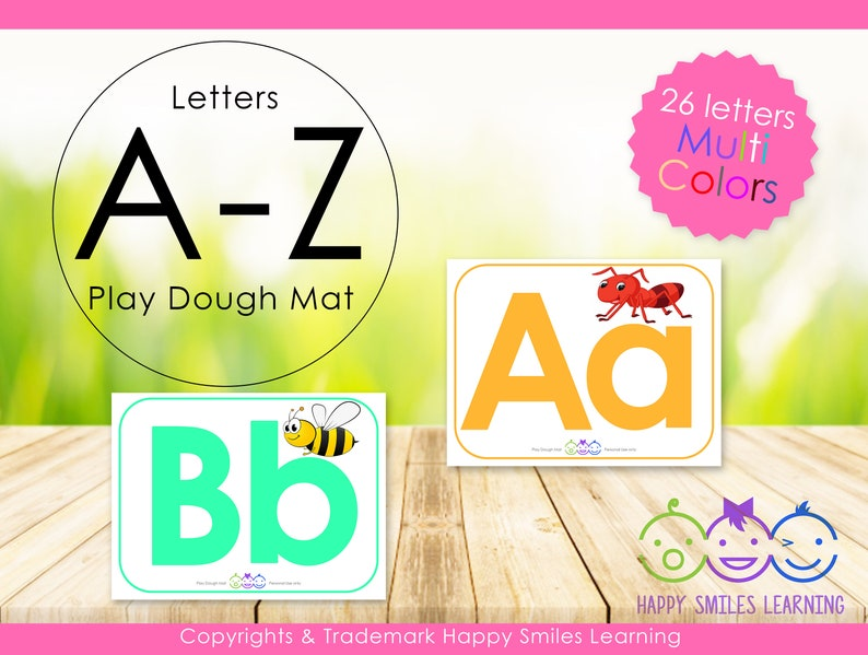 picture about Printable Playdough Mats referred to as Printable Playdough Mat Package deal 26 Playdough Mats Instantaneous Electronic Obtain Engage in dough Mats