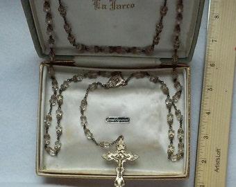 La Jarco sterling silver rosary