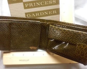 Princess Gardner vintage faux green crocidille wallet (leather)