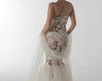 Crochet Wedding Dress Etsy