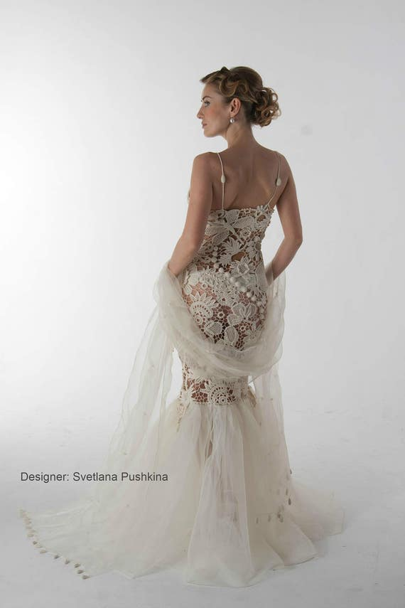 Irish Crochet Wedding Dress