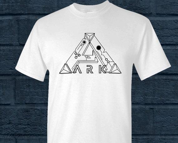 Men/'s Black T Shirt Ark Survival Evolved Logo Clothing Game PS4 PC Xbox One UK