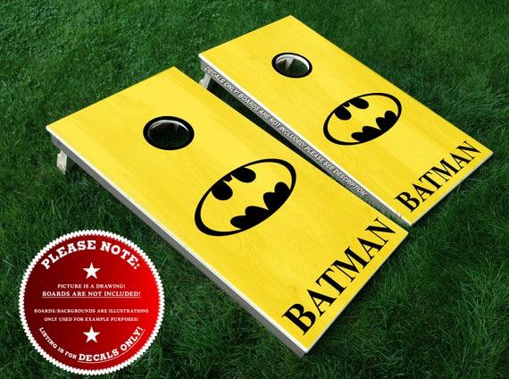 Incredible Batman Cornhole Board Decals Bean Bag Toss Diy Vinyl Sticker Set Superhero Movie Justice League Dark Knight Gotham Inzonedesignstudio Interior Chair Design Inzonedesignstudiocom