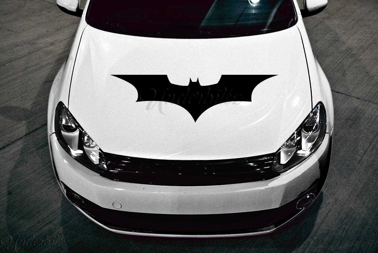 Large Bat Hood Decal